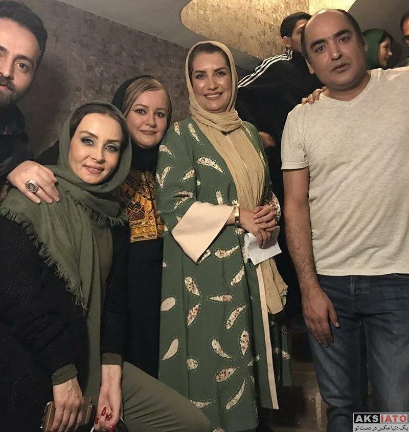 بازیگران بازیگران زن ایرانی  فریبا کوثری در اجرای نمایش پابرهنه در پارک (3 عکس)
