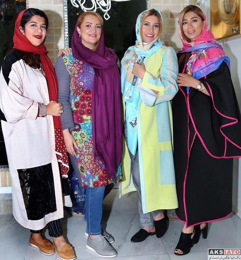 بازیگران بازیگران زن ایرانی  فریبا نادری به همراه مهمانانش در رستورات دلی جان (5 عکس)