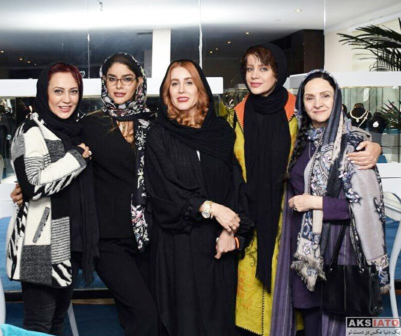 بازیگران بازیگران زن ایرانی  گلشید بحرایی بهمراه هنرمندان در نگالری جواهرات زنگنه (4 عکس)