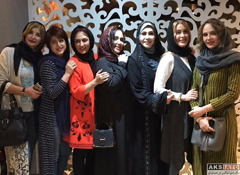 بازیگران بازیگران زن ایرانی  دورهمی گلشید بحرایی و دیگر هنرمندان در رستوران پارت (4 عکس)