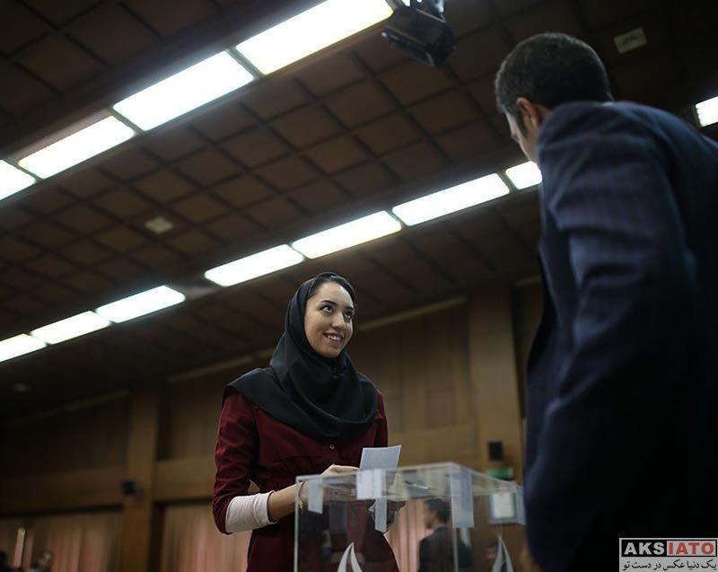 ورزشکاران ورزشکاران زن کیمیا علیزاده در انتخابات ورزشکاران کمیته ملی المپیک (4 عکس)