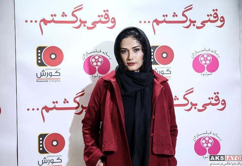 بازیگران بازیگران زن ایرانی  لادن مستوفی در اکران خصوصی فیلم وقتی برگشتم (6 عکس)