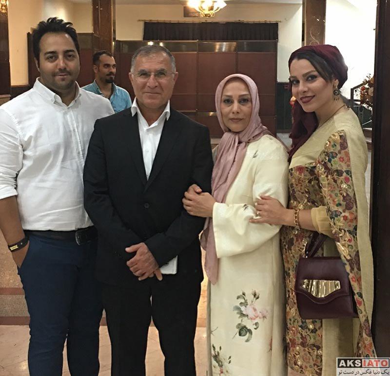 خانوادگی  مجید جلالی به همراه دختر و همسرش در مجلس عروسی