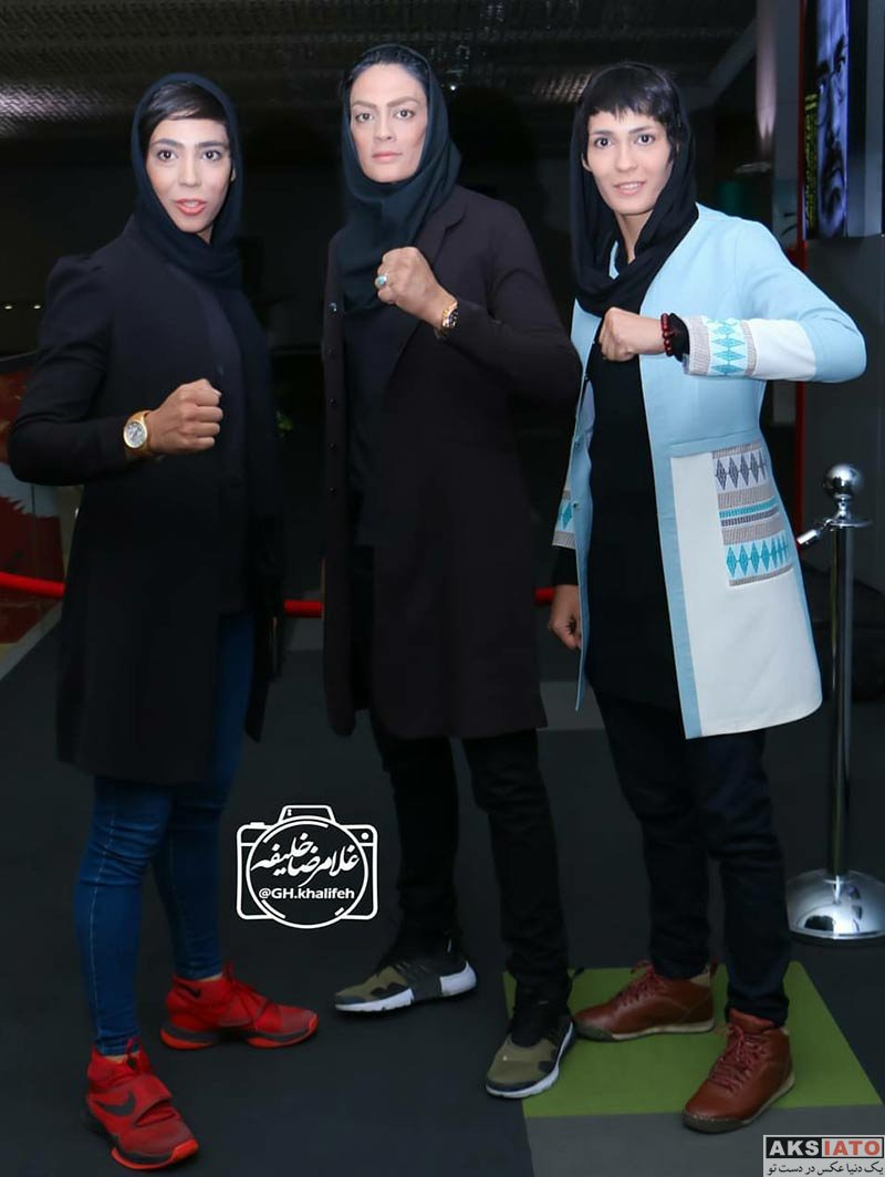 ورزشکاران ورزشکاران زن  خواهران منصوریان در اکران خصوصی مستند صفر تا سکو (5 عکس)