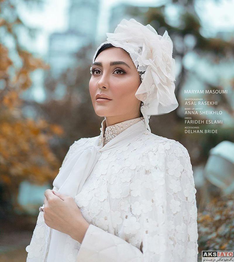 عکس آتلیه و استودیو  عکس های آتلیه مریم معصومی با لباس عروس