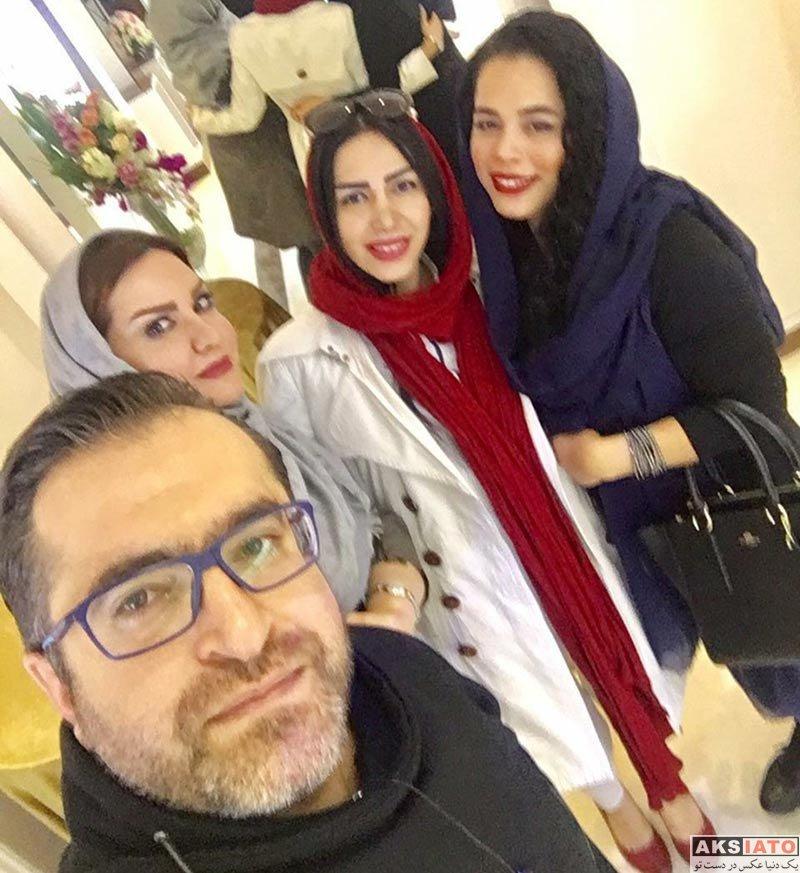بازیگران بازیگران زن ایرانی ملیکا شریفی نیا در مزون لوکس حانیار در تهران (3 عکس)