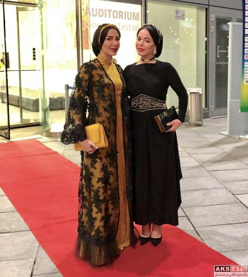 بازیگران بازیگران زن ایرانی  ملیکا شریفی نیا در اختتامیه جشنواره فیلم های ورزشی میلان