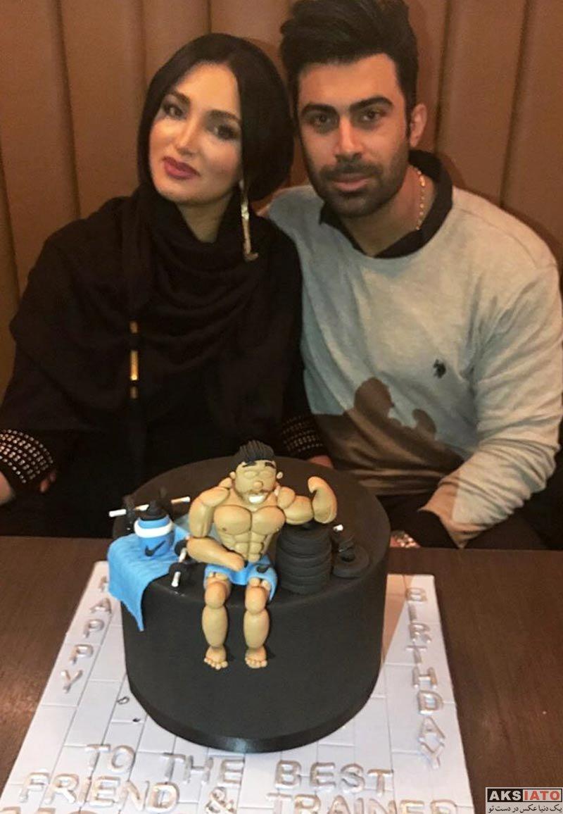 بازیگران خانوادگی  جشن تولد محسن میری همسر روناک یونسی (2 عکس)