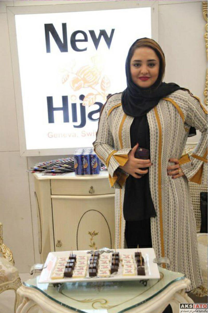 بازیگران بازیگران زن ایرانی  نرگس محمدی در فروشگاه نیو حجاب تهران (۲ عکس)