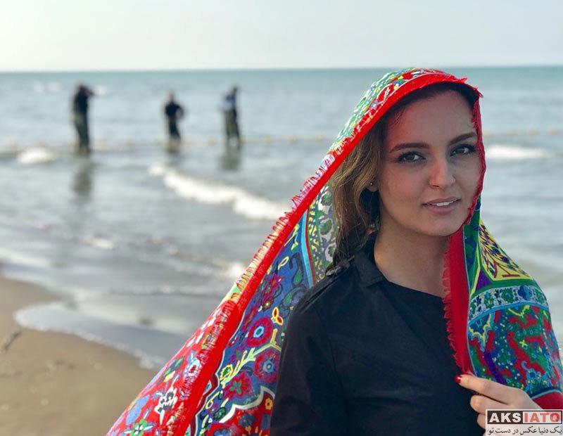 بازیگران عکس آتلیه و استودیو فتوشات های زیبای نیلوفر پارسا در کنار دریا (5 عکس)