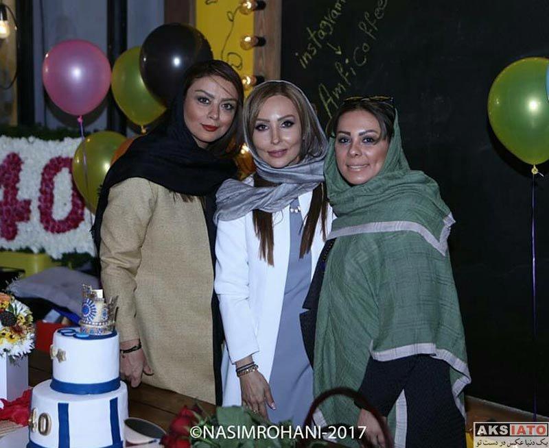 بازیگران بازیگران زن ایرانی  شبنم فرشادجو در تولد 40 سالگی پرستو صالحی (3 عکس)