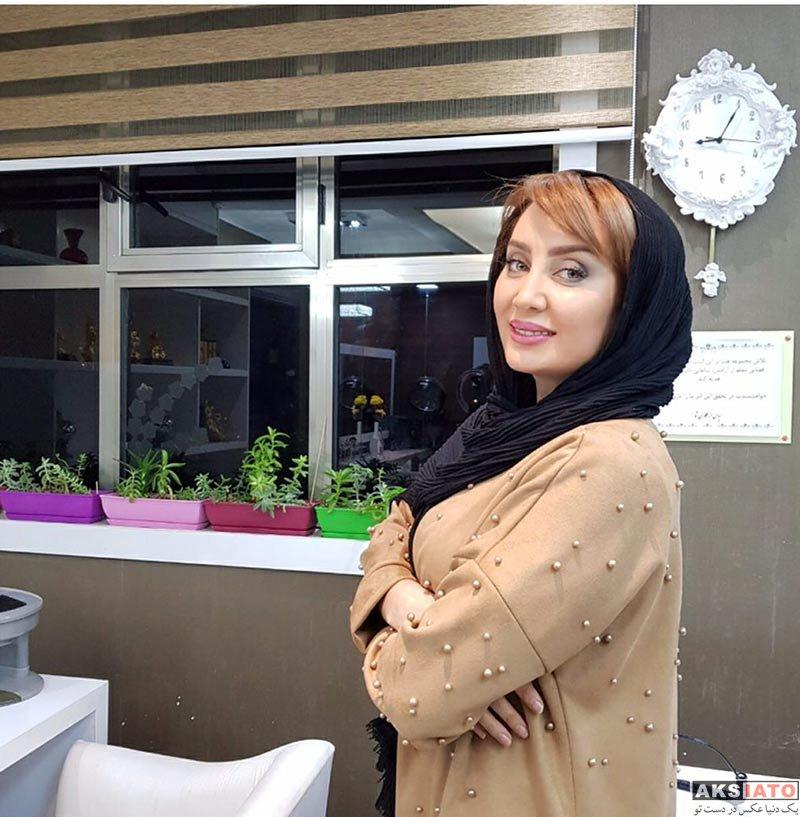 بازیگران بازیگران زن ایرانی  سولماز حصاری در مرکز زیبایی هلیا (۲ عکس)