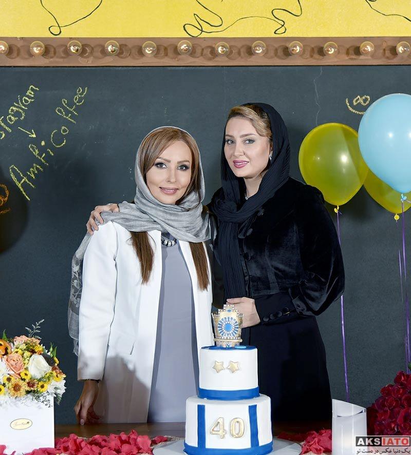 بازیگران بازیگران زن ایرانی  مریم خدارحمی و سولماز حصاری در جشن تولد پرستو صالحی (2 عکس)