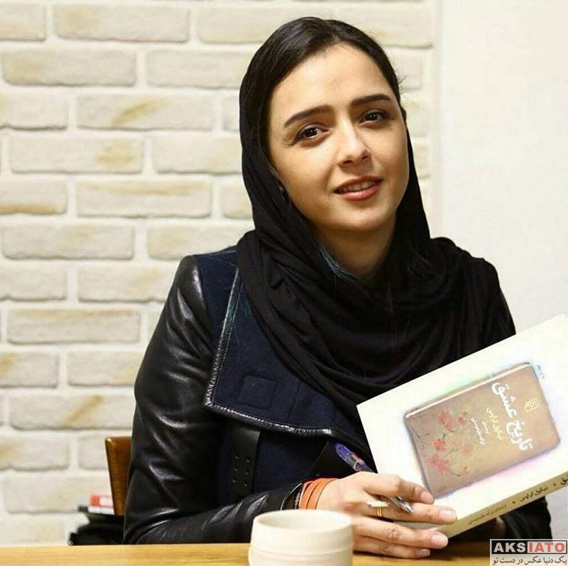 بازیگران بازیگران زن ایرانی  ترانه علیدوستی در  مراسم روز کتابفروشی در نشر مرکز (4 عکس)