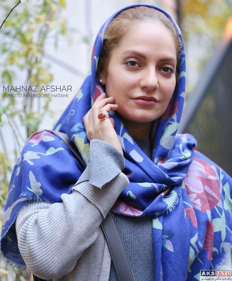بازیگران بازیگران زن ایرانی  مهناز افشار در نمایشگاه نقاشی کودکان زلزلهزده کرمانشاه (6 عکس)