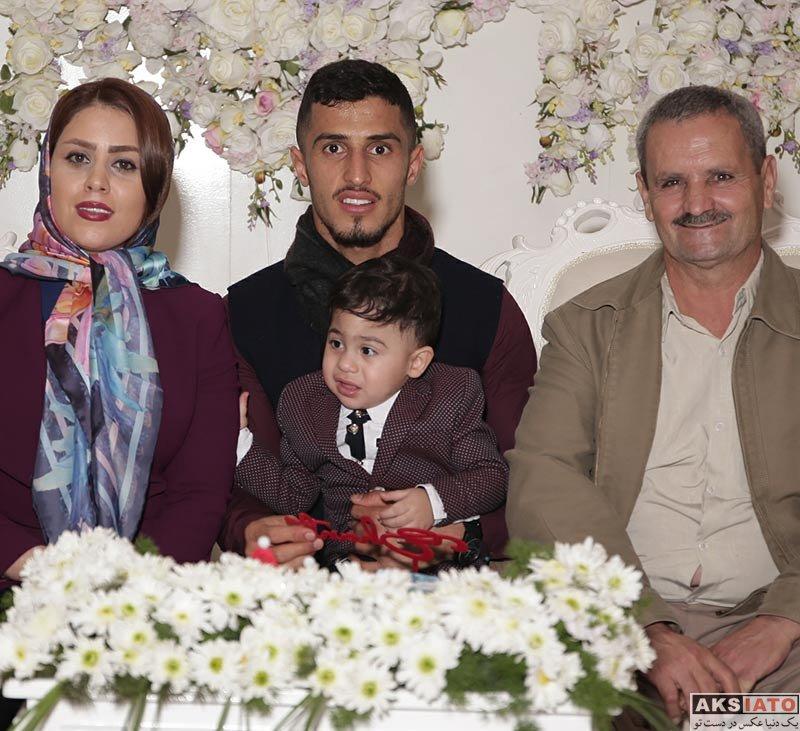 خانوادگی  جشن تولد یک سالگی پسر علی علیپور با حضور همسرش (5 عکس)