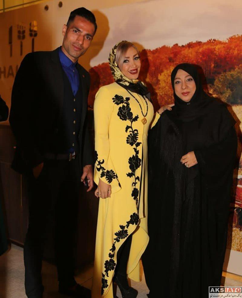 خانوادگی  امیرحسین صادقی و همسرش در مهمانی مدیریت مزون حانیار