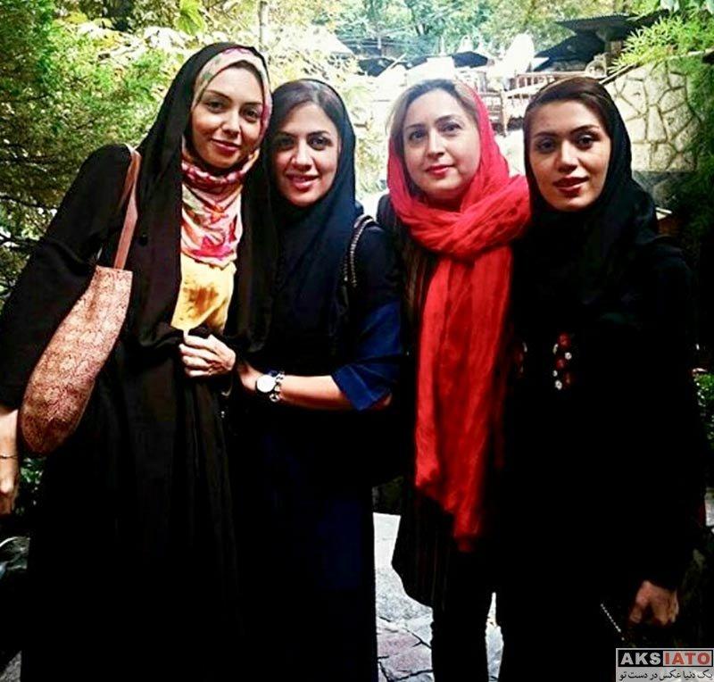 بازیگران مجریان  دورهمی آزاده نامداری با دوستان دوران دانشجویی (2 عکس)