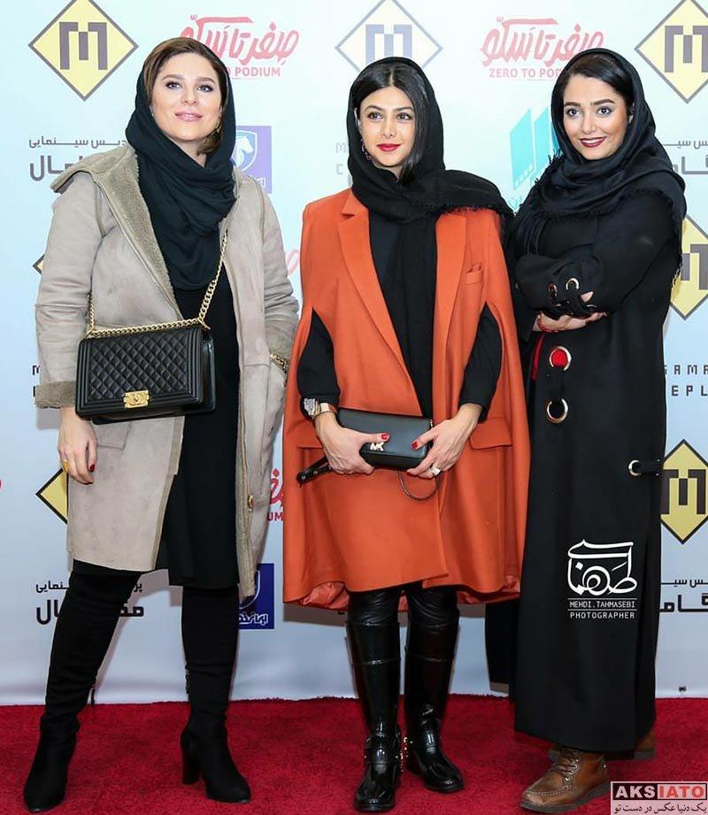 بازیگران بازیگران زن ایرانی  آزاده صمدی در اکران مردمی مستند صفر تا سکو (8 عکس)