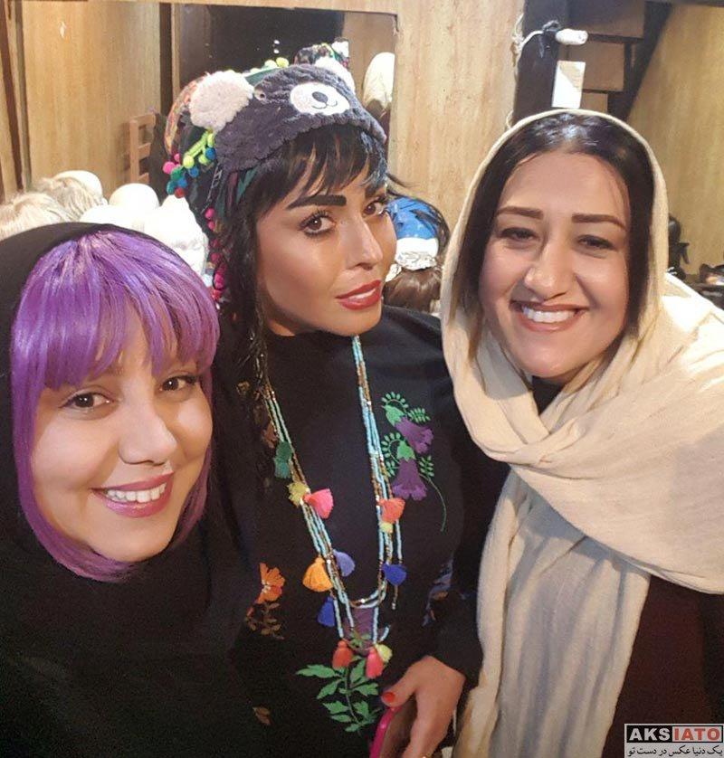 بازیگران بازیگران زن ایرانی  بهنوش بختیاری در اجرای نمایش هایلایت (4 عکس)