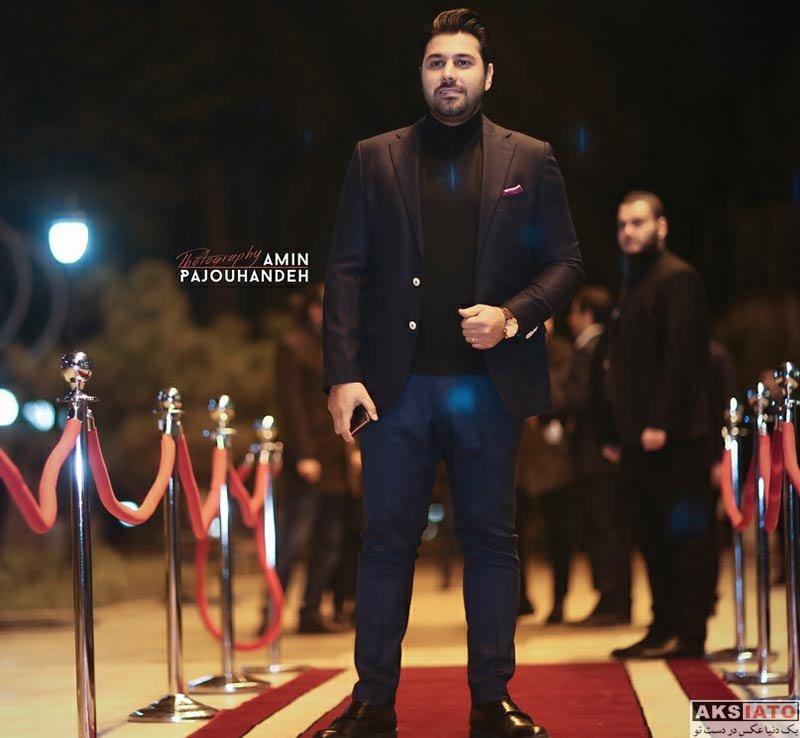 بازیگران خوانندگان  احسان خواجه امیری و همسرش در چهارمین جشن سالانه موسیقی ما