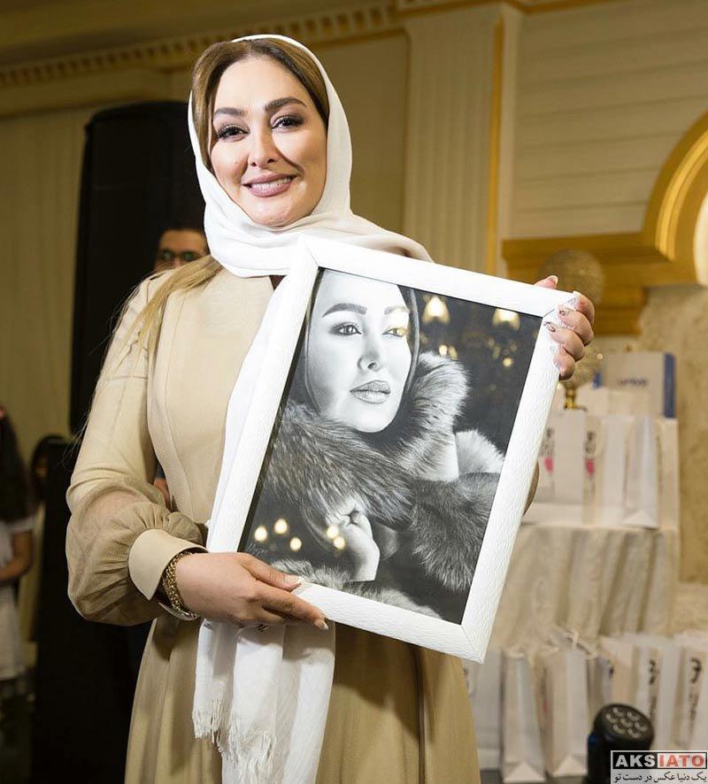 بازیگران بازیگران زن ایرانی  الهام حمیدی در افتتاحیه شعبه جدید سالن زیبایی شیرین مقدم (5 عکس)