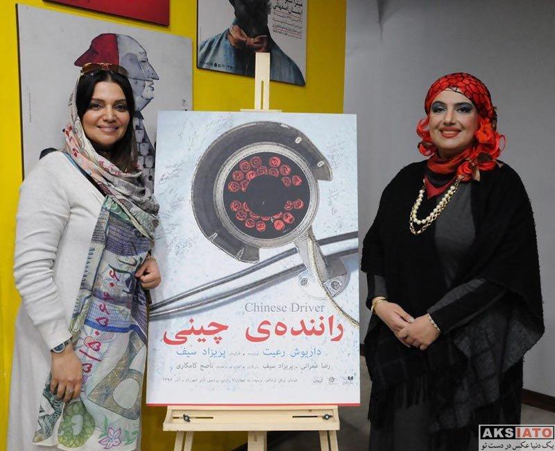 بازیگران بازیگران زن ایرانی  الهام پاوه نژاد در اجرای نمایش راننده چینی (3 عکس)