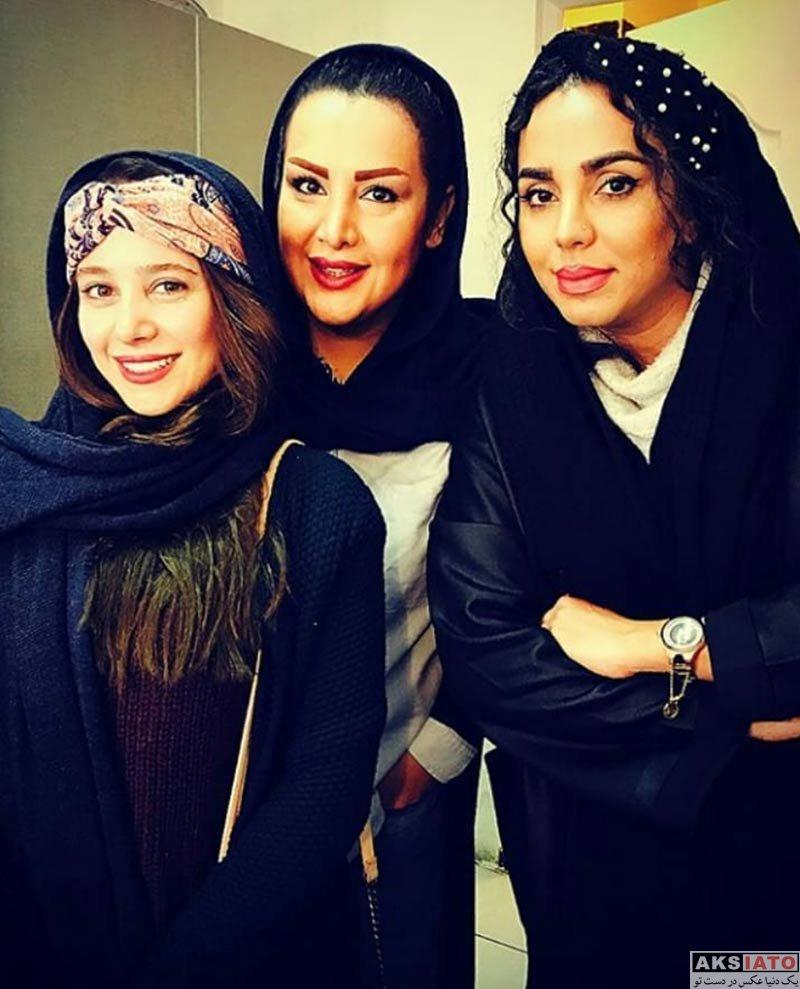 بازیگران بازیگران زن ایرانی  الناز حبیبی و دوستانش در پشت صحنه نمایش جدیدش (3 عکس)