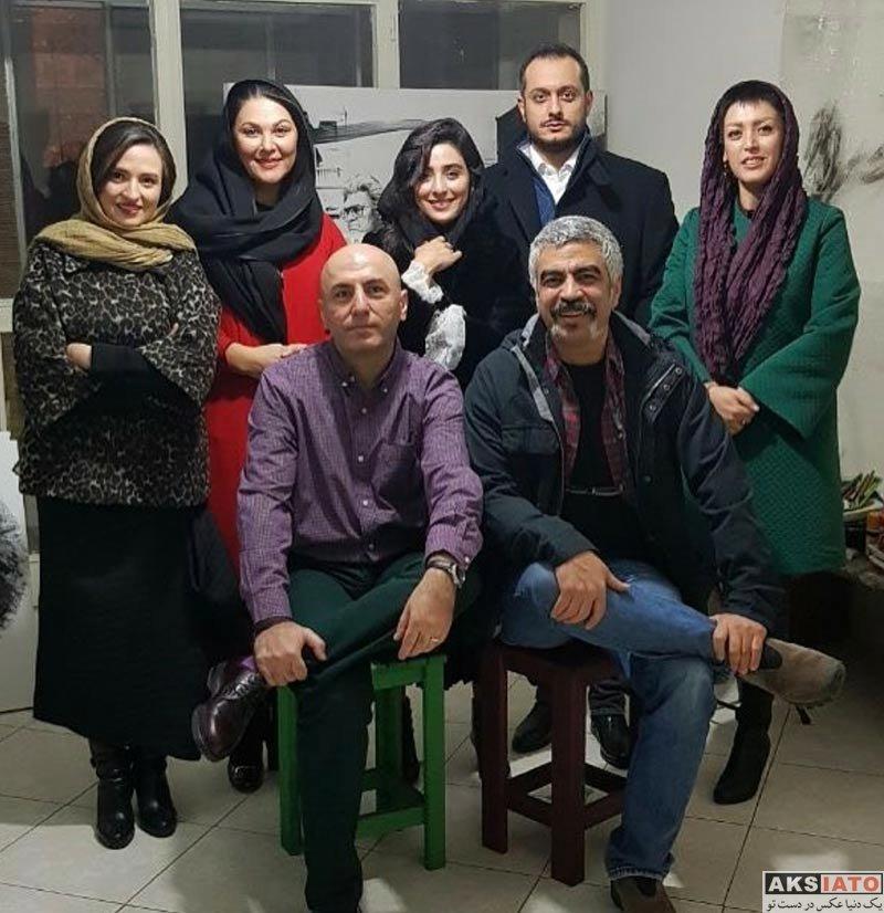 بازیگران بازیگران زن ایرانی  گلاره عباسی و دیگر هنرمندان در مراسم شب یلدا (4 عکس)