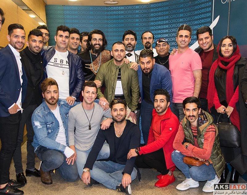 ورزشکاران ورزشکاران مرد  محسن مسلمان و کمال کامیابی نیا در کنسرت هوروش باند (3 عکس)