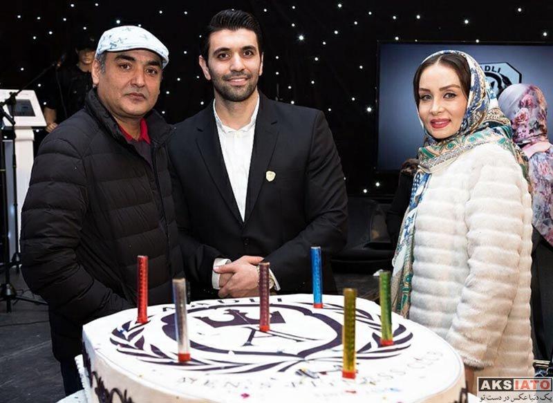 بازیگران خانوادگی  حدیث فولادوند و همسرش در افتتاحيه مجموعه ورزشى ادلى(4 عکس)