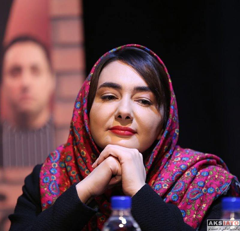 بازیگران بازیگران زن ایرانی  هانیه توسلی در نشست خبری نمایش خشم و هیاهو (5 عکس)