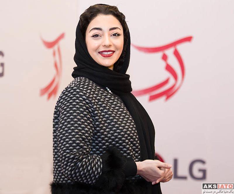 بازیگران بازیگران زن ایرانی  هستی مهدوی در اکران خصوصی فیلم آذر (5 عکس)