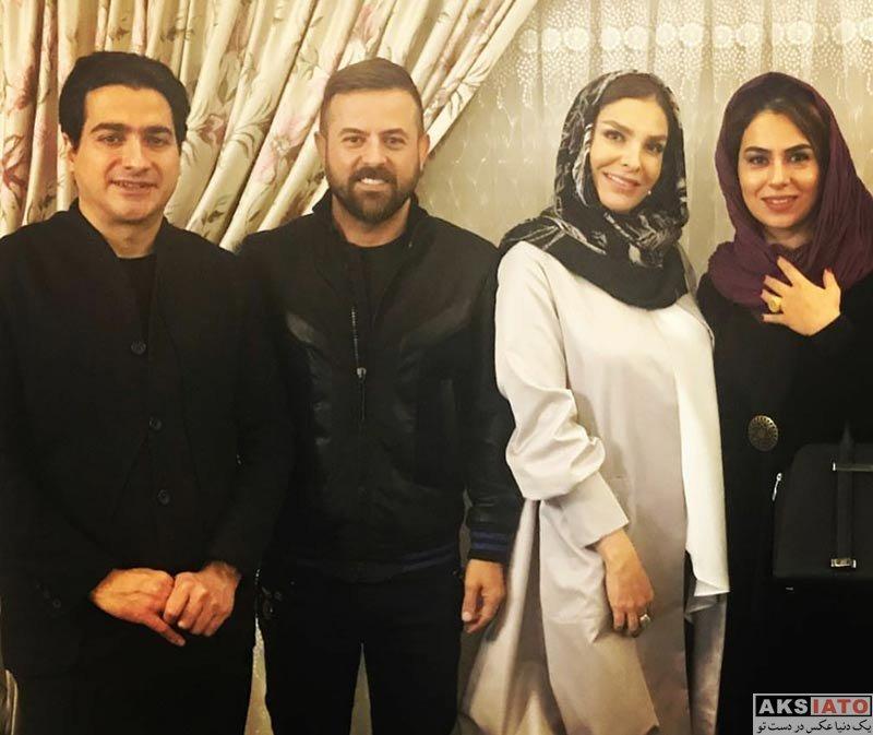خانوادگی  هومن سیدی بهمراه همسرش در کنسرت ایران من