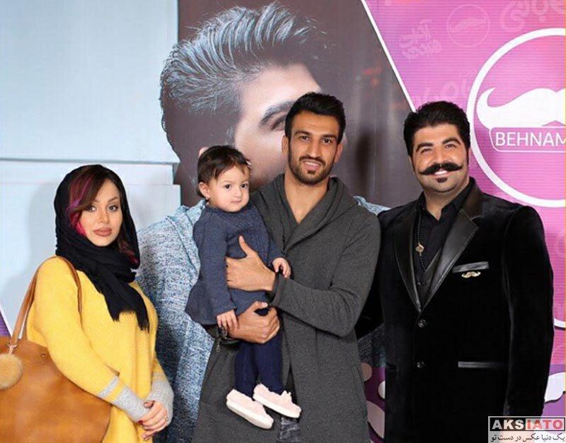 ورزشکاران ورزشکاران مرد  حسین ماهینی و همسرش در کنسرت بهنام بانی (2 عکس)