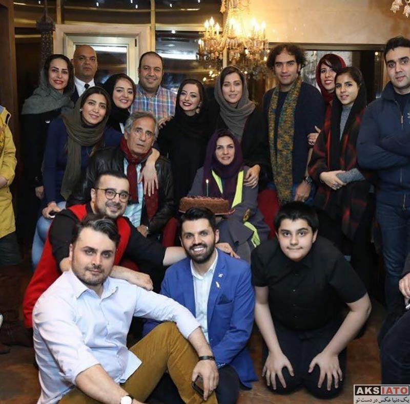 بازیگران بازیگران زن ایرانی  مهتاب کرامتی در جشن تولد آذر معماریان (۳ عکس)