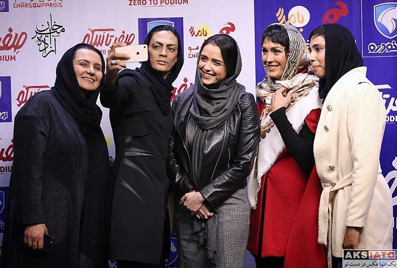 ورزشکاران ورزشکاران زن  خواهران منصوریان در دومین اکران خصوصی صفر تا سکو (7 عکس)