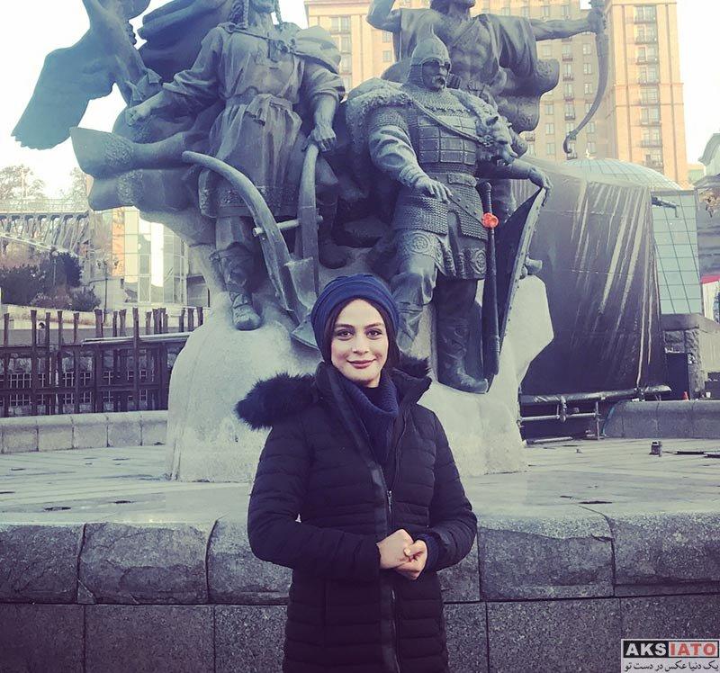 بازیگران بازیگران زن ایرانی  مارال فرجاد در کیف اوکراین (4 عکس)
