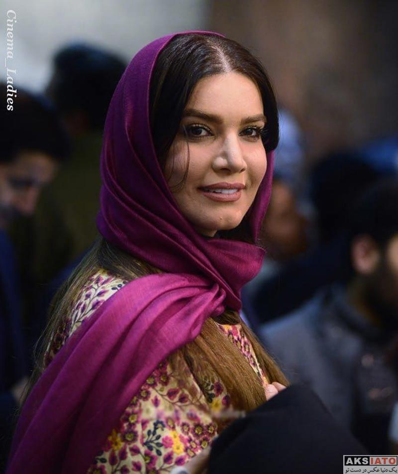 بازیگران بازیگران زن ایرانی  متین ستوده در اکران خصوصی فیلم آینه بغل (5 عکس)