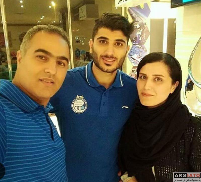 ورزشکاران مرد  عکس های خانوادگی میلاد زکی پور