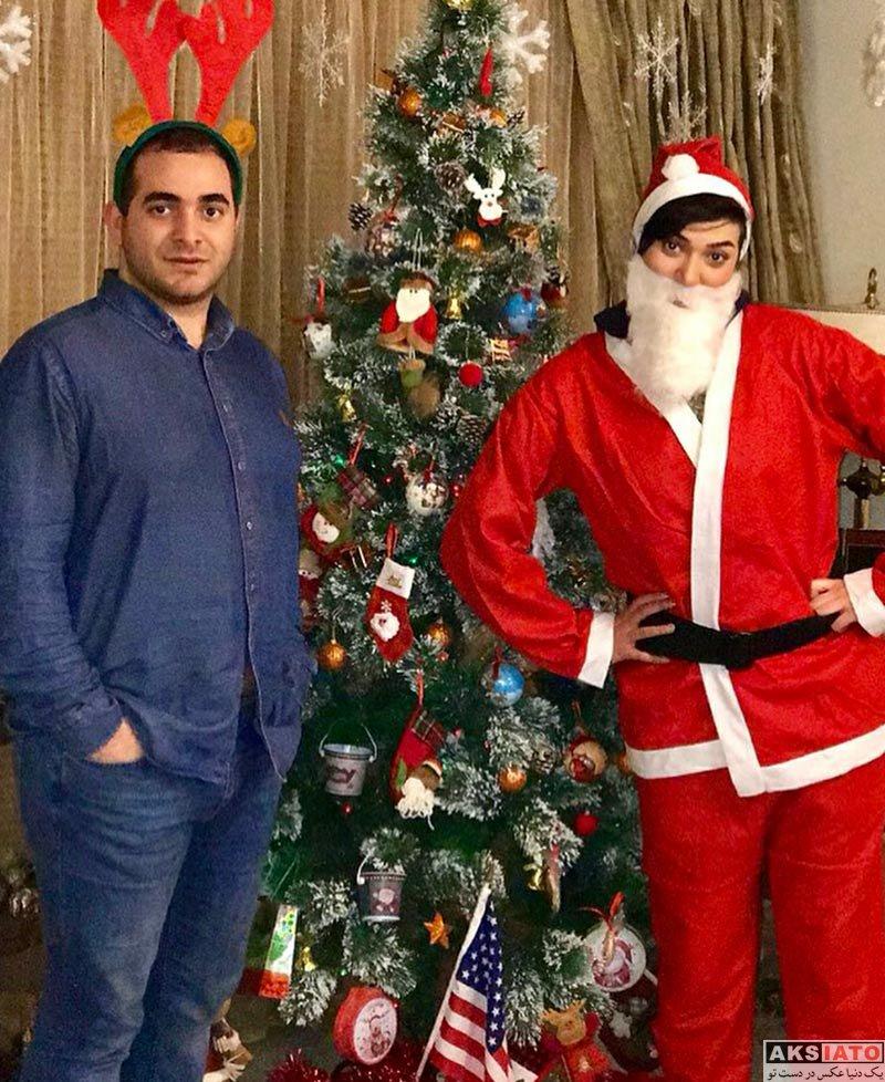 بازیگران بازیگران زن ایرانی  عکس های کریسمسی مینا وحید در لباس بابانوئل (3 عکس)