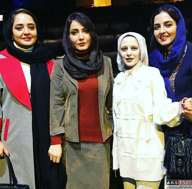 بازیگران بازیگران زن ایرانی  نرگس محمدی و خواهرش در اجرای نمایش سلول های حروم (3 عکس)