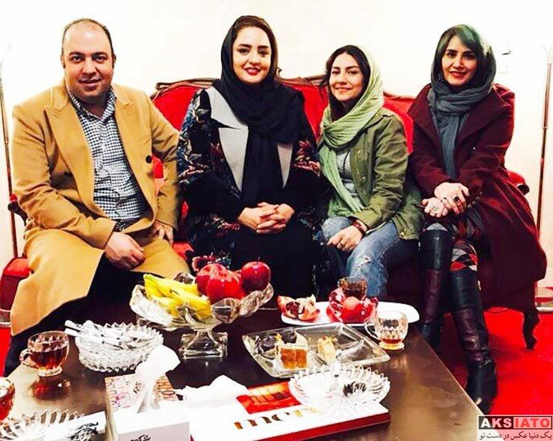 بازیگران بازیگران زن ایرانی  نرگس محمدی و همسرش در برنامه دورهمی (3 عکس)