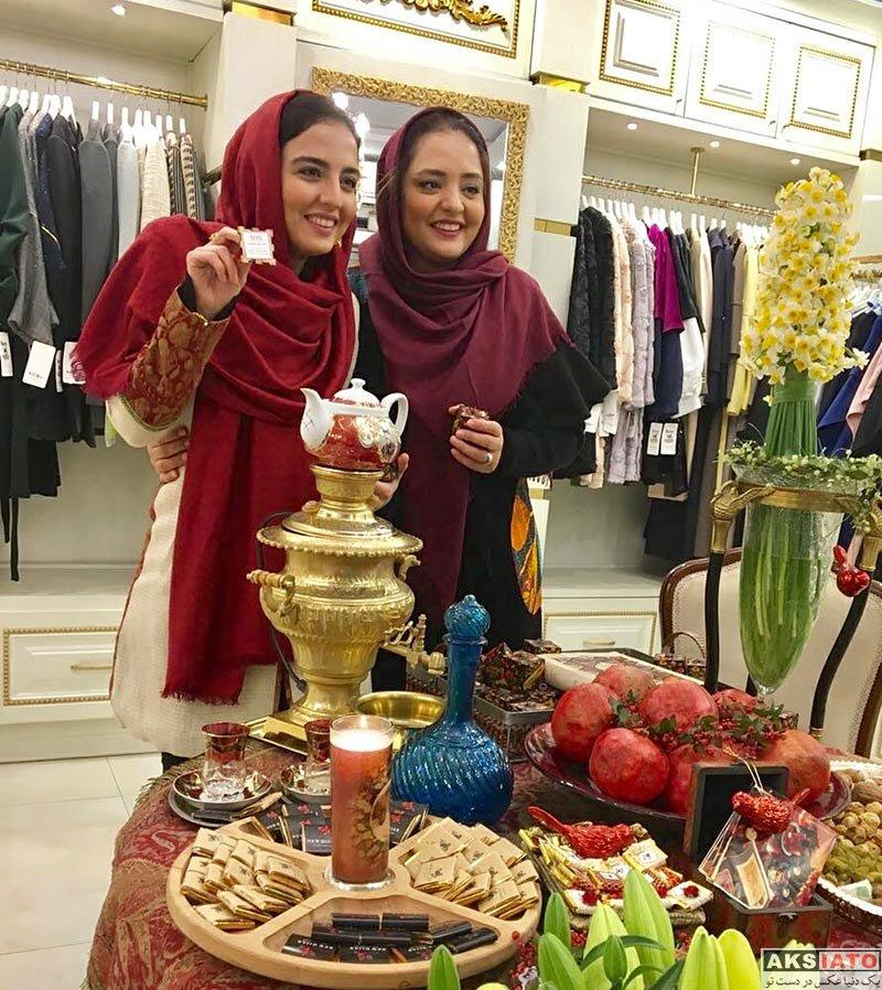 بازیگران بازیگران زن ایرانی  عکس های یلدایی نرگس محمدی و خواهرش در دی 96