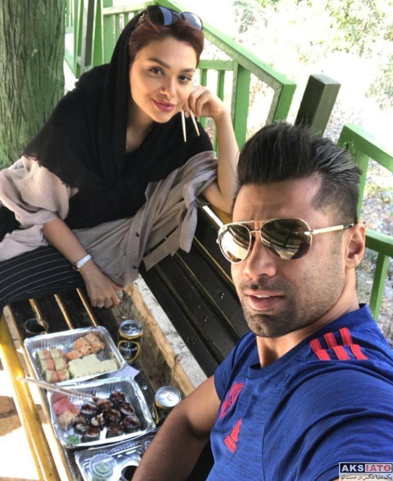 بازیگران خانوادگی  عکس های محسن فروزان و همسرش نسیم نهالی در آذر 96 (4 تصویر)