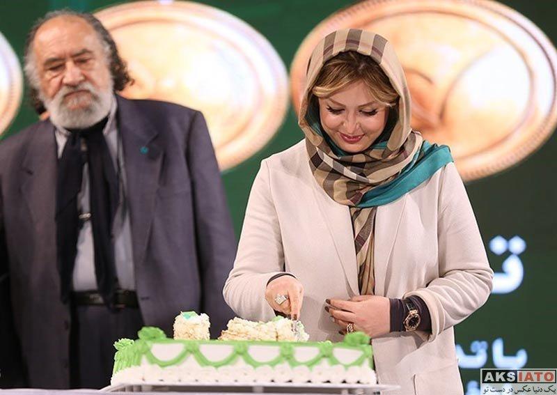 بازیگران بازیگران زن ایرانی  نیوشا ضیغمی در دهمین سالگرد تاسیس بانک قرض الحسنه مهر ایران