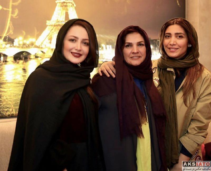 بازیگران بازیگران زن ایرانی  نیکی مظفری در جشن تولد آذر معماریان (۳ عکس)