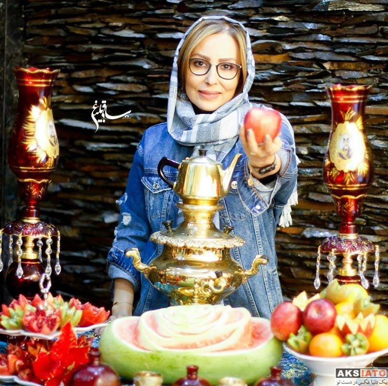 بازیگران بازیگران زن ایرانی  عکس های شب یلدایی پرستو صالحی و معصومه کریمی در دی ۹۶