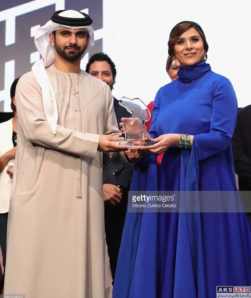 بازیگران بازیگران زن ایرانی  سحر دولتشاهی با لباسی زیبا در جشنواره فیلم امارات (5 عکس)