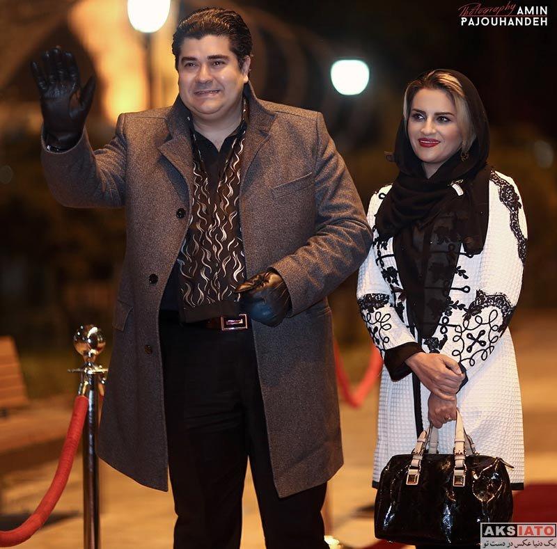 بازیگران خوانندگان  سالار عقیلی و همسرش در چهارمین جشن سالانه موسیقی ما